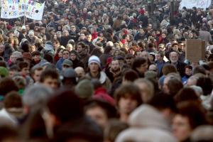 Strike in Paris, 29 janvier. Photo: Joel Saget/AFP